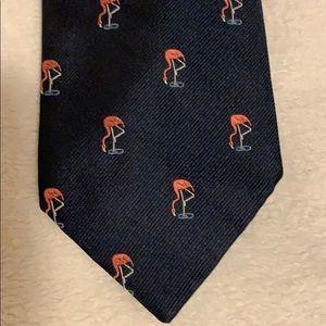 J Crew Mens Tie with Flamingos